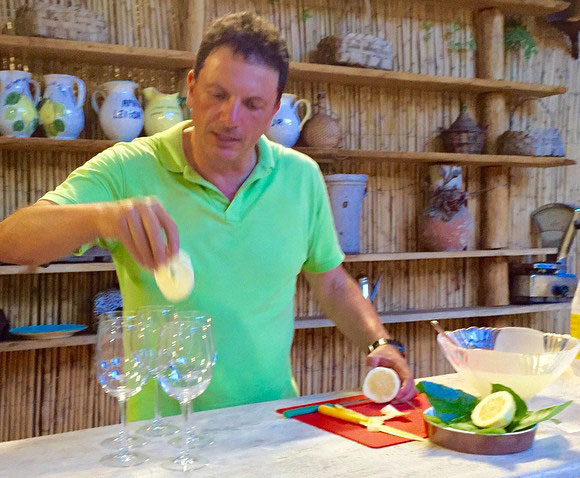 Preparing organic lemonades at the Amalfi Lemon Tour - Living Amalfi