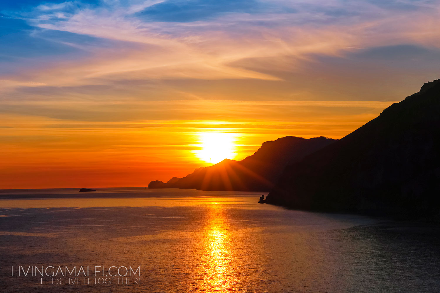 The most spectacular winter sunsets on the Amalfi Coast